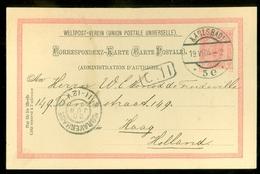 Lettre * AUTRICHE * EMPIRE * CP éffigie F.Joseph à 10 Heller Rouge * Gelopen In 1904 V KARLSBAD Naar DEN HAAG  (11.445q) - Covers & Documents