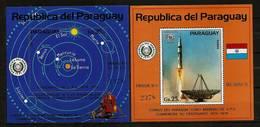 PARAGUAY 1974 - Centenary UPU / World Postal UNION / Space - Blocs 219 + 220 MNH ** Q740a - Paraguay