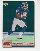 USA FOOTBALL NEW YORK GIANTS MARK INGRAM MINNESOTA VIKINGS MIKE MERRIWEATHER 2 TRADING CARDS - Singles