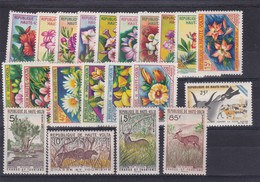 REPUBLIQUE DE HAUTE VOLTA, MIXED STAMPS: FLORA, CHASSE ET TOURISME, CONTRE LA PESTE BOVINE. UNUSED. CIRCA 1962- BLEUP - Upper Volta (1958-1984)