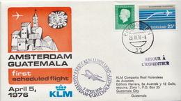 Netherlands First Flight Cover, Amsterdam - Guatemala - Postal History