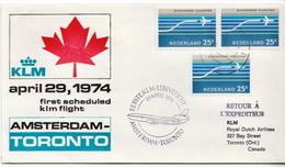 Netherlands First Flight Cover, Amsterdam - Toronto - Postal History