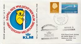 Netherlands First Flight Cover, Amsterdam - Melbourne - Postal History