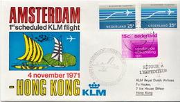 Netherlands First Flight Cover, Amsterdam - Hong Kong - Postal History