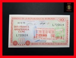 BURUNDI 10 Francs  1.4.1970  P. 20 B  UNC - Burundi