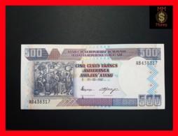 BURUNDI 500 Francs 1.5.1997  P. 38 A  UNC - Burundi
