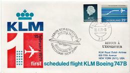Netherlands First Flight Cover, Amsterdam - New York - Postal History