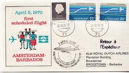 Netherlands First Flight Cover, Amsterdam - Barbados - Postal History