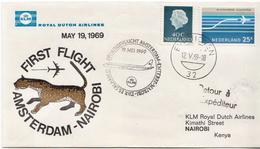 Netherlands First Flight Cover, Amsterdam - Nairobi - Postal History