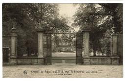 Château Du Roeulx à S.A.S. Mgr Le Prince De Croy-Solre - L'entrée Principale - Edition Vve Jules Thomas-Marin - 2 Scans - Le Roeulx