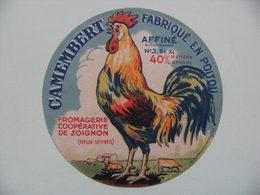 Etiquette Camembert - Le Coq Gaulois - Fromagerie Coopérative De Soignon 79 Poitou - Deux-Sèvres  A Voir ! - Cheese