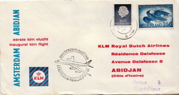 Netherlands First Flight Cover, Amsterdam - Abidjan - Postal History