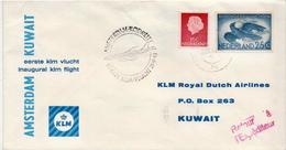 Netherlands First Flight Cover, Amsterdam - Kuwait - Postal History