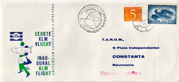 Netherlands First Flight Cover, Amsterdam - Constanta - Postal History