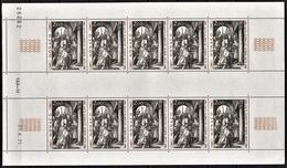 MONACO 1972 - FEUILLE DE 10 TP / N° 876 - NEUFS ** - Blocks & Sheetlets