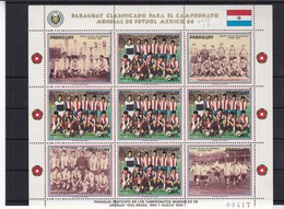 PARAGUAY CLASIFICADO PARA EL CAMPEONATO MUNDIAL DE FUTBOL MEXICO 1986. STAMPS. UNUSED-TBE- BLEUP - Paraguay