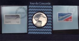France. Jour Du Concorde. Paris à Rio De Janeiro. Timbre PA 49. Et Médaille Le Médailler. 21 Janvier 1976. - Monnaies & Billets