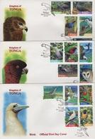 Tonga (1998) - 3 FDC -   /  Birds - Oiseaux - Vogel - Aves - Otros