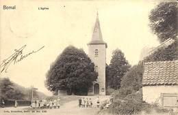 Bomal - L'Eglise (animée, Enfants, Nels, 1893 ? Zoom Timbre) - Durbuy