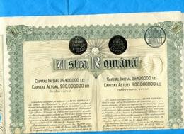"""ACTION- Illustrée -""""ASTRA ROMANA """"  500 Lei  Titre étranger PARIS 1926- Coupons Détachés- - Bank & Insurance"""