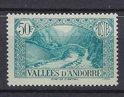 Andorre 1937-43 Y&T N°92 Neuf Sans Charnière - Unused Stamps