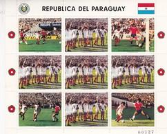 PARAGUAY CLASIFICADO PARA MEXICO '86. STAMP BLOCK, UNUSED-BLEUP - Paraguay