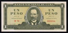 Caribe  / 1 PESO 1966 Serie R-74 663254 Pick - 100a UNC - Cuba