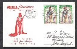 Jamaica FDC, 1964, Commemorate Miss World Winner - Jamaica (1962-...)