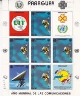 PARAGUAY. UIT, AÑO MUNDIAL DE LAS TELECOMUNICACIONES, CIRCA 1980. STAMP BLOCK, UNUSED-BLEUP - Paraguay