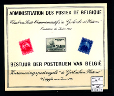 BELGIQUE BELGIUM LUXE SHEET COB LX9 - Luxusblätter