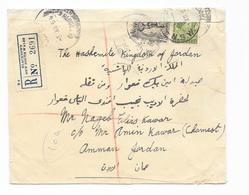 Australia Letter Reco Mif. Mi.185, 204 Blacktown NSW To Amman Jordan Via Beyrouth Censor - 1937-52 George VI