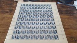 LOT 417359 TIMBRE DE FRANCE NEUF** FEUILLE N°725 VALEUR 15 EUROS BLOC - Feuilles Complètes