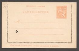 Carte-lettre  Type Mouchon 15 Cent Date 121  Yv 117-CL1 Neuve - Entiers Postaux