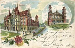 PFORZHEIM, Saalbau (1907) Litho AK - Pforzheim