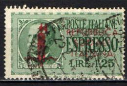 ITALIA RSI - 1944 - EFFIGIE DEL RE VITTORIO EMANULE III - USATO - 4. 1944-45 Repubblica Sociale
