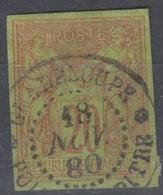#131# COLONIES GENERALES N° 42 Oblitéré Pointe-à-Pitre (Guadeloupe) - Sage