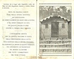 """1540 """"CAPPELLETTA ERETTA DAI FANTI DEL 249° REGG. FANTERIA A COLLETTO POSINA IL 29/9/918  """" CART. POST. ORIG.  NON SPED. - Monumenti Ai Caduti"""