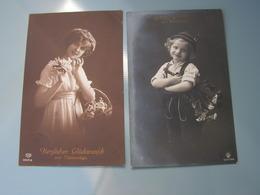 Schönes Mädchen Motiv, Mädchen, Portrait, Fillet, Girl, Child  2 Alte AKs - Abbildungen