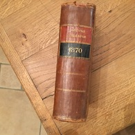 165/ THE RACING CALENDAR FOR THE YEAR 1870 RACES PAST LONDON - Cultural