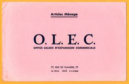 BUVARD - Articles De Ménage - O.L.E.C. - Office Lillois D'Expansion Commerciale 77, Rue De Flandre Lille - Wash & Clean