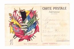 """Carte Postale En Franchise Militaire - Publicitaire - Bec - Lampes """"Visseaux"""" - Cartes De Franchise Militaire"""