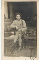 CARTE PHOTO  SOLDAT - Guerre 1914-18