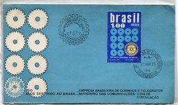SOBRE MATASELLO ROTARY INTERNACIONAL 50 ANOS SERVINDO AO BRASIL RIO DE JANEIRO 1973 PRIMER DIA DE CIRCULAÇAO FDC -LILHU - Brazil