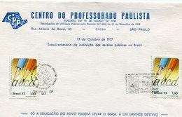 SOBRE MATASELLO DEMOSTRAÇAO DE FILATELIA INFANTOJUVENIL HOMENAGEM 1977 SAO PAULO BRASIL -LILHU - Brazil