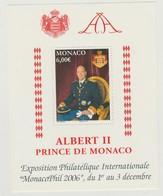 Monaco Bloc N° 92 ** MonacoPhil 2006 - Blocks & Kleinbögen