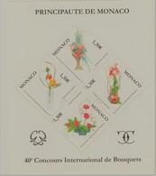 Monaco Bloc N° 93 ** 40 éme Anniversaire Concours De Bouquets - Blocks & Kleinbögen