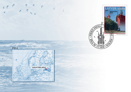 LATVIA LETTLAND 2018 - Ragaciema - SEA LIGHTHOUSE , Beacon  FDC - Phares