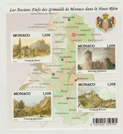 Monaco Bloc N° 98 ** Anciens Fiefs Grimaldi Dans Le Haut Rhin - Blocks & Kleinbögen