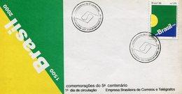SOBRE MATASELLO COMENMORAÇOES DO 5° CENTENARIO PORTO SEGURO BRASIL 1996 1° DIA DE CIRCULAÇAO FDC -LILHU - Brazil