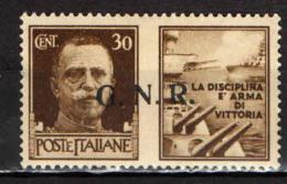 ITALIA RSI - 1944 - PROPAGANDA DI GUERRA - 30 C. - MH - 4. 1944-45 Repubblica Sociale